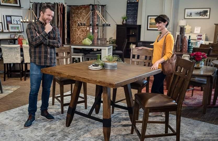 Fall River Counter Height Dining Set in Store